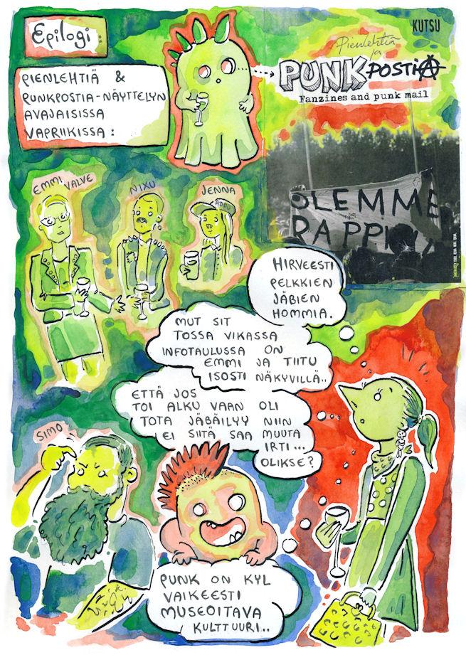 pienlehtiä ja punkpostia