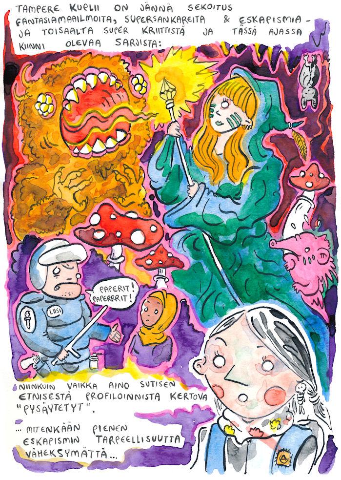 sarjakuvafestivaalit tampere