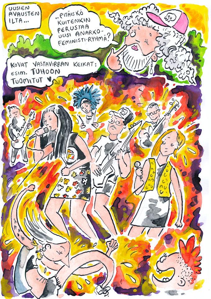tuhoon tuomitut punk