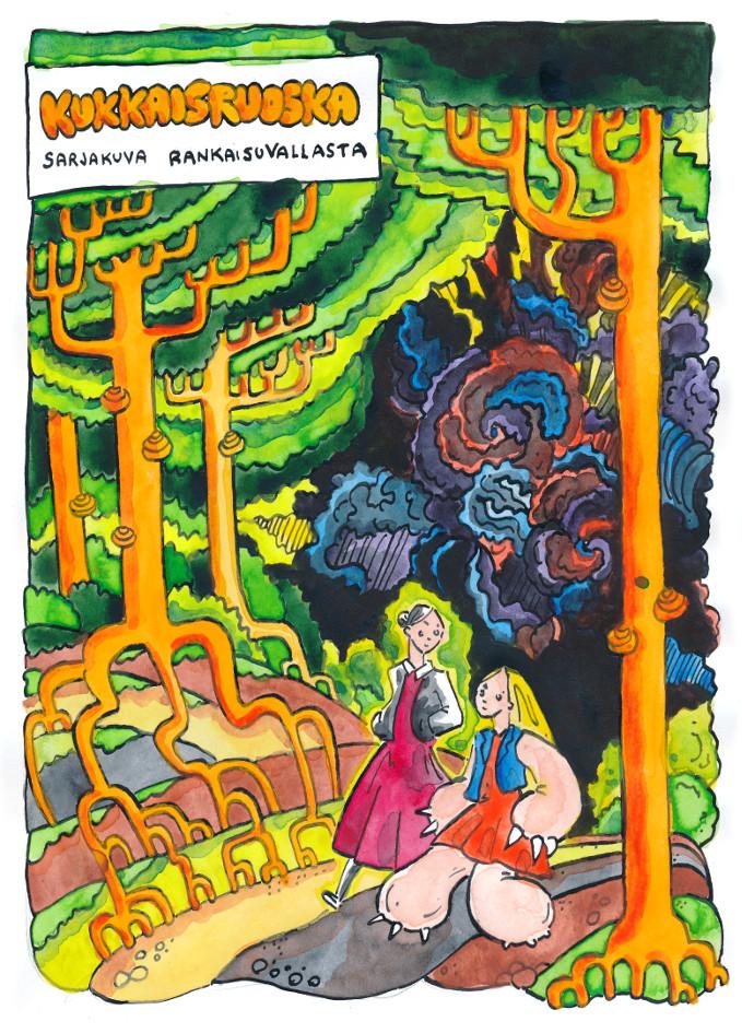 kukkaisruoska sarjakuva rankaisuvallasta